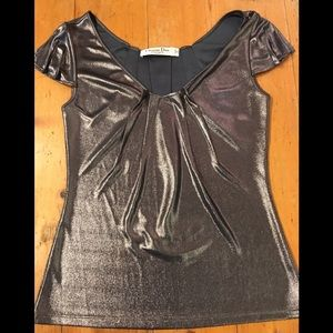 Christian Dior Boutique Silver Shirt size 4